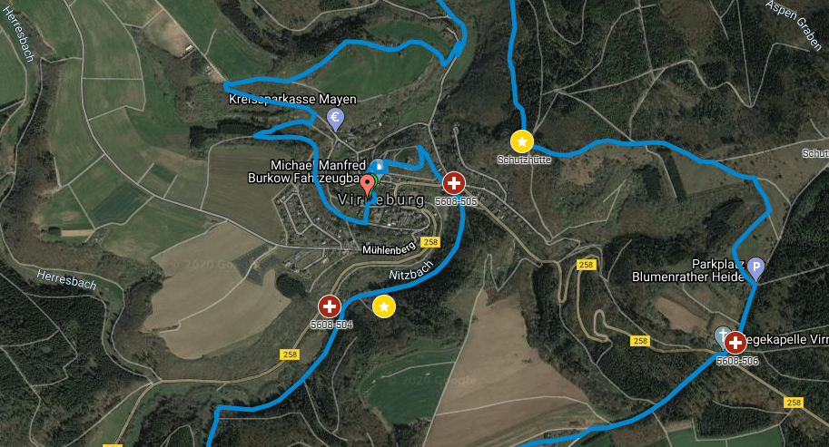 Karte von Virneburg